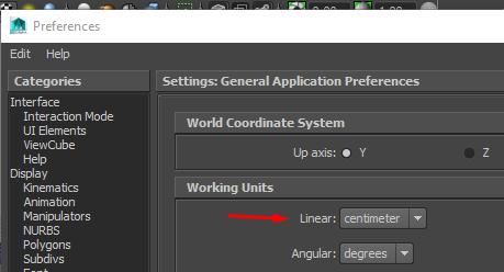 unit settings