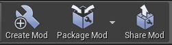 Mod toolbar