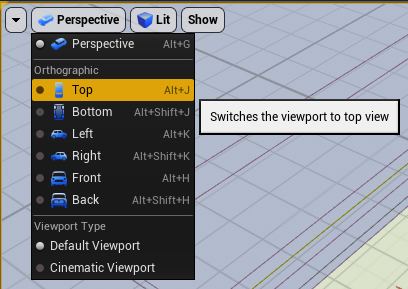 Viewport settings for map overview
