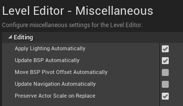 Level editor options for disabling auto navmesh generation
